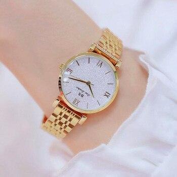 Top Frauen Uhren Luxus Marke Damen Quarzuhr Frauen Mode Lässig Edelstahl Kleid Armbanduhr reloj mujer Uhr Stunde