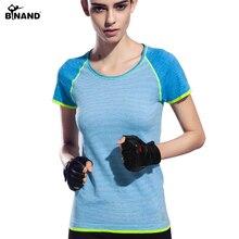 Athleisure BINAND Nueva Llegada Mujeres Yoga Camisas de Secado rápido Camisa de Señora Tira de la Camiseta Para El Culturismo Fitness Correr Deportes