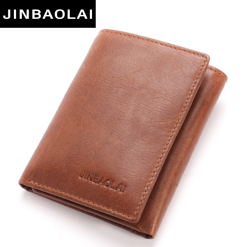 Genuine Leather Men Wallet Small Men Walet Hasp Male Portomonee Short Card Holder Brand Perse Carteira For Rfid 3 fold Wallets casual weaving design card holder handbag hasp wallet for women