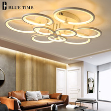 White&Black Body LED Chandelier Lighting For Living Room Dining Room Bedroom Acrylic Lampshade Modern Home LED Chandeliers Lamps(China)
