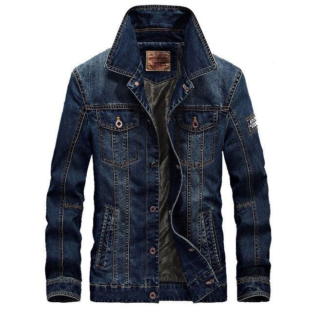 Brand Men's Denim Jacket Designer Spring Autumn Retro Top Qualtiy Plus Size Casual Denim Jacket Coat Men Outwear 4XL BF66008A