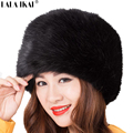 Faux Raccoon Fur Woman Winter Hats Warm Long Hair Flat-Top Hat Unisex 8 Colors Casual Fox Fur Cap Women ZWW0056-5