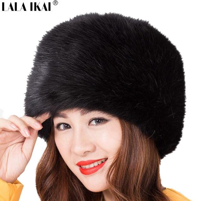 Faux Raccoon Fur Woman Winter Hats Warm Long Hair Flat-Top Hat Unisex 8  Colors Casual Fox Fur Cap Women ZWW0056-5 f26acd88f04