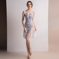 2018 Для женщин платья Sexy See Through Элегантный халат Вечеринка клуб дамы Винтаж сетчатые пляжные Boho Лолита платье с вышивкой