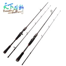 TAF 1.8m 2.1m Casting or Spinning Rod M Power 2 Section Fishing Lure Weight 7-25g Carp Vara De Pesca Peche