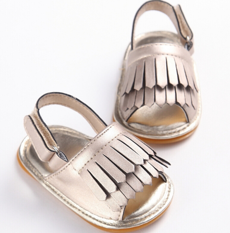 Summer Toddler Boy Girl Tassel Soft Sole Leather Shoes Sneakers 0-18M