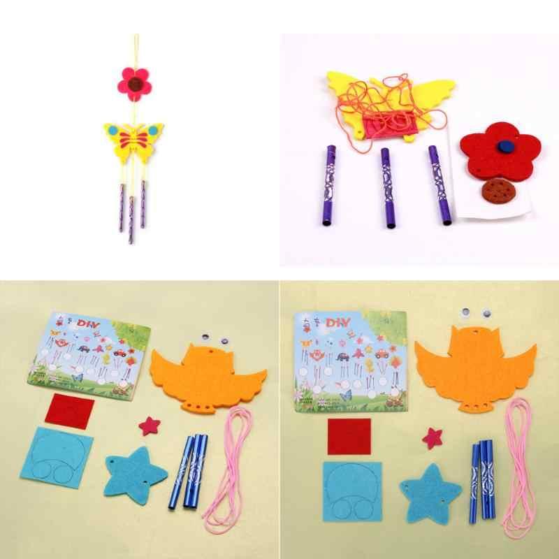 Дети ребенок DIY колокольчики эолия колокольчики Развивающие головоломки игрушечные лошадки Craft наборы Случайная Доставка