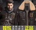 M-3xl cuero genuino de la fuerza aérea piloto trajes marca chaquetas de piel de vaca vintage hombres de párrafo corto motocicleta chaqueta de cuero