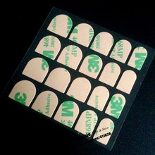 10 шт.(20 листов/шт) накладные наклейки для ногтей s, маникюр накладные ногти искусство красоты 3M468MP материал Двухсторонняя клейкая наклейка