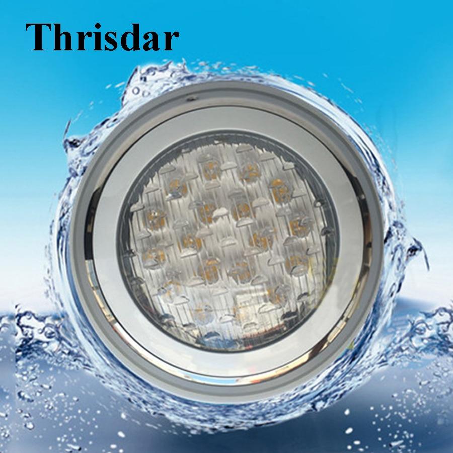 Thrisdar IP68 RGB Swimming pool Light DC12V/24V 9W 12W 15W 18W 24W Wall Mounted Underwater Fountain Aquarium Pond Light