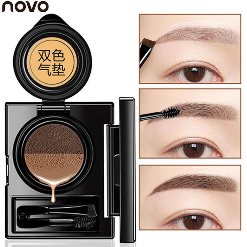 NOVO Air Cushion 2 цвета гель для бровей Макияж кофе коричневый окраска бровей Гель водостойкий для бровей