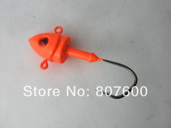 Fishing Live Bait Jig Lead Jig Head Hook 28g Jig Collar 10 Pcs/Lot