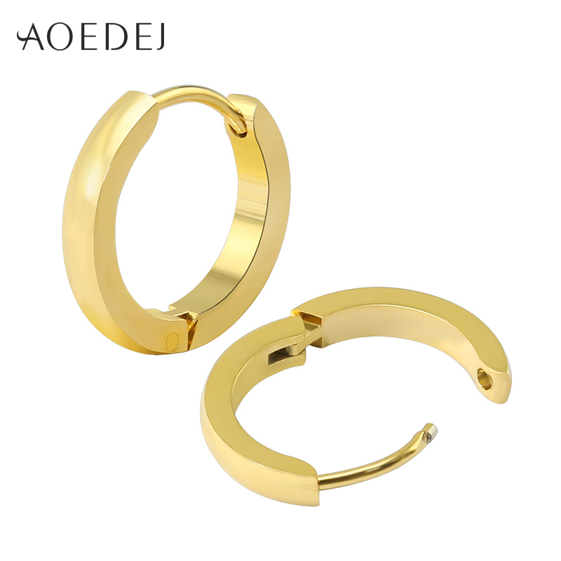 circle earrings for guys aoedej small hoop earrings gold color stainless steel hoop 6970