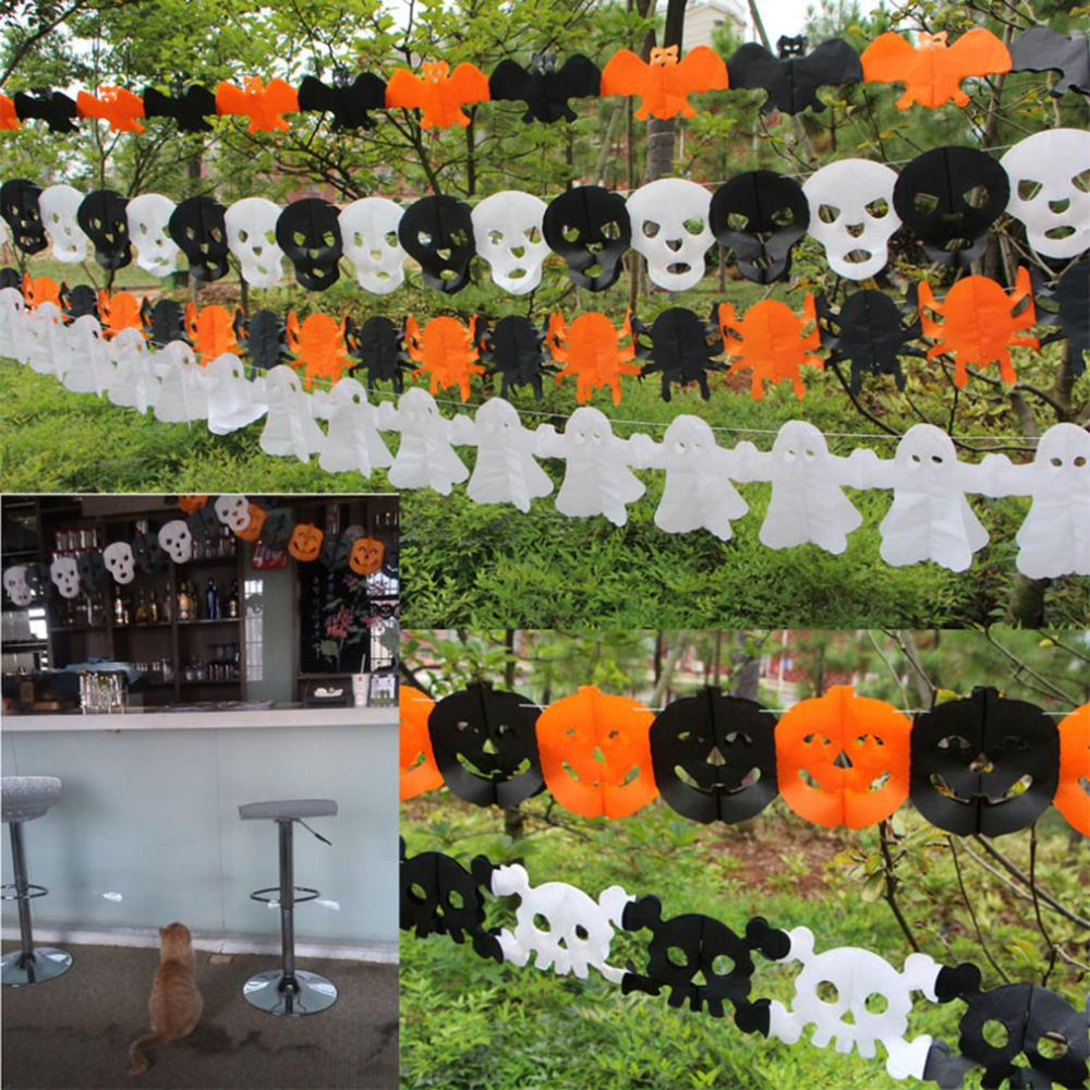 Online buy wholesale halloween paper garland from china for Halloween girlande