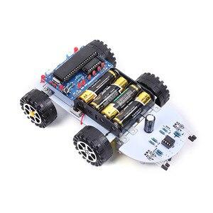 Image 4 - DIY Kit C51 inteligentny pojazd unikanie przeszkód śledzenie inteligentny zestaw samochodowy dwa napędy silnikowe inteligentny pojazd samochód robot