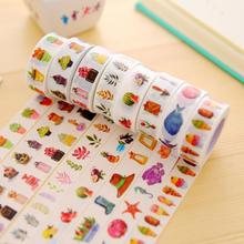 2pcs lot Kawaii Colorful Washi Tape Set DIY Decorative Adhesive Tapes Masking Tape Scrapbooking Paper Decorative