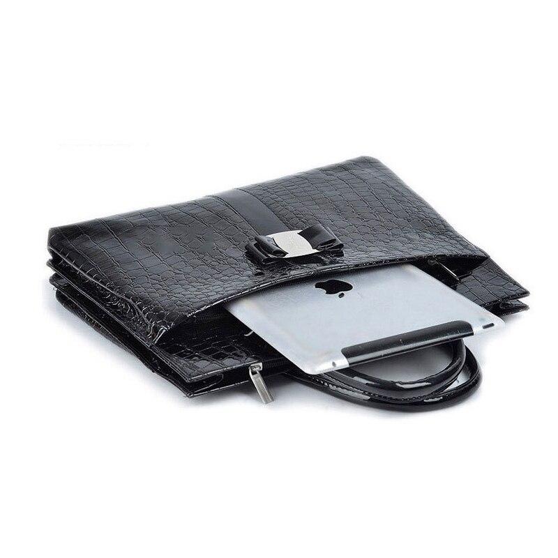 couro de patente das senhoras Tipos de Sacos : Top-handle Bags