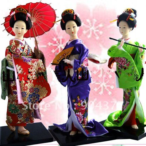 Anese Kabuki Dolls Collect Doll 12 Inch Mix Style Color Chinese Silk Handcrafts With Ng