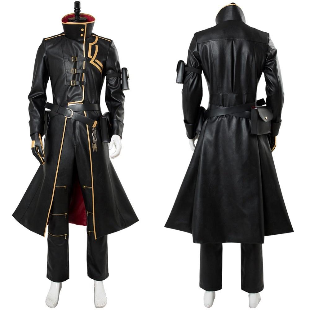 Женский костюм для косплея Fate Grand, черный костюм с накидкой, костюм для Хэллоуина, индивидуальный пошив