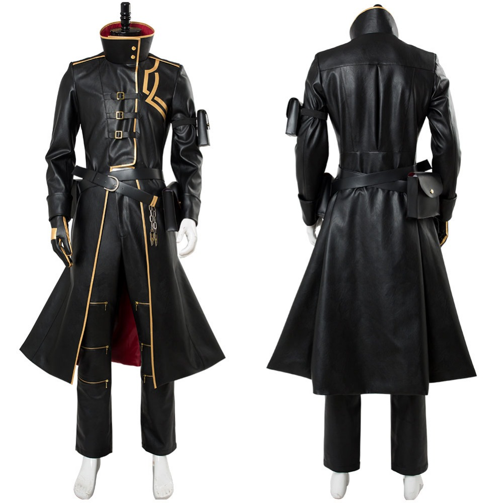 Fate Grand Order Cosplay Gilgamesh Cosplay Costume Black Outfit Cloak Uniform Concept Version Halloween Costumes Tailor Made