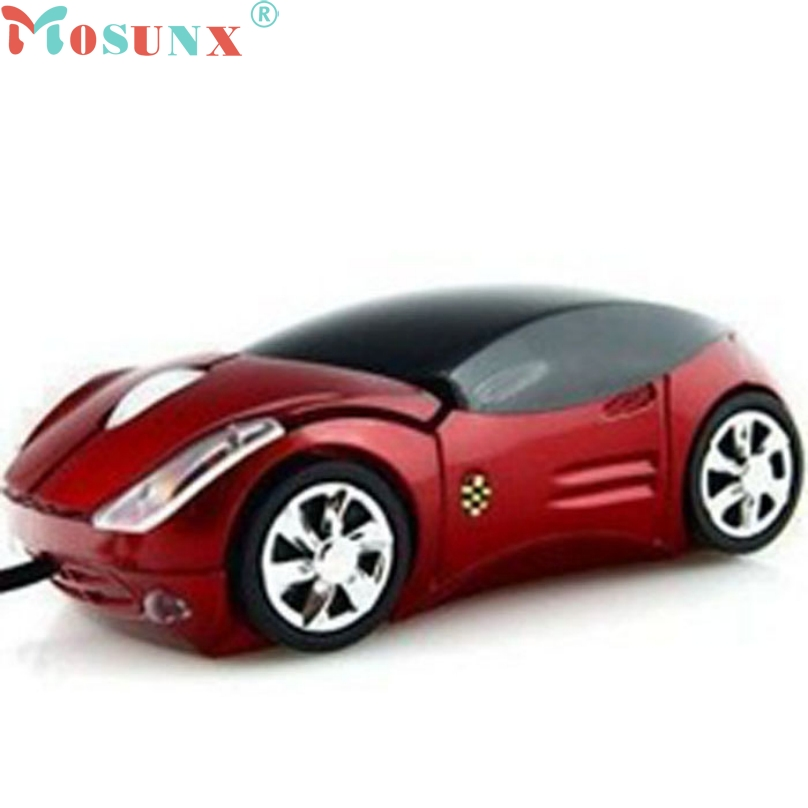 2015 Brand New Hot Sale Fashion Red/Blue Mini 3D Car Shape USB Optical Wired Mouse Mice For PC/Laptop/Computer Wholesale CY0804