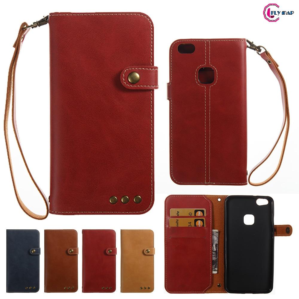 Мягкие Coque для huawei P10 Lite P10Lite WAS-LX1 случае Ретро Флип Бумажник Искусственная кожа Обложка для huawei P 10 Lite был LX1 телефона ...