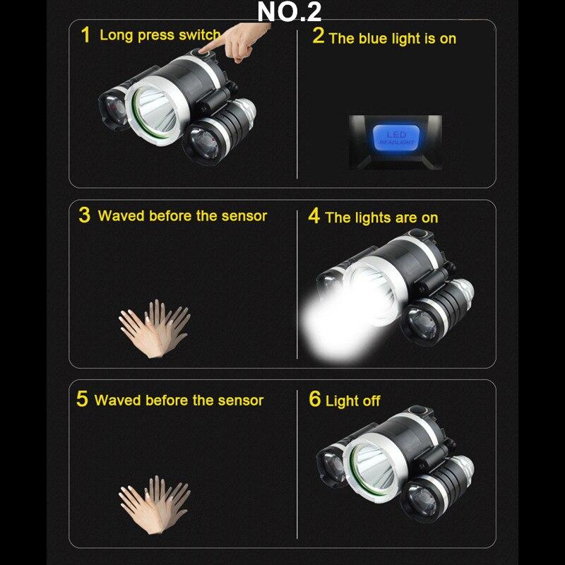 Faróis de Led 4 tocha cabeça luzes de No.1 : Without Inductiom