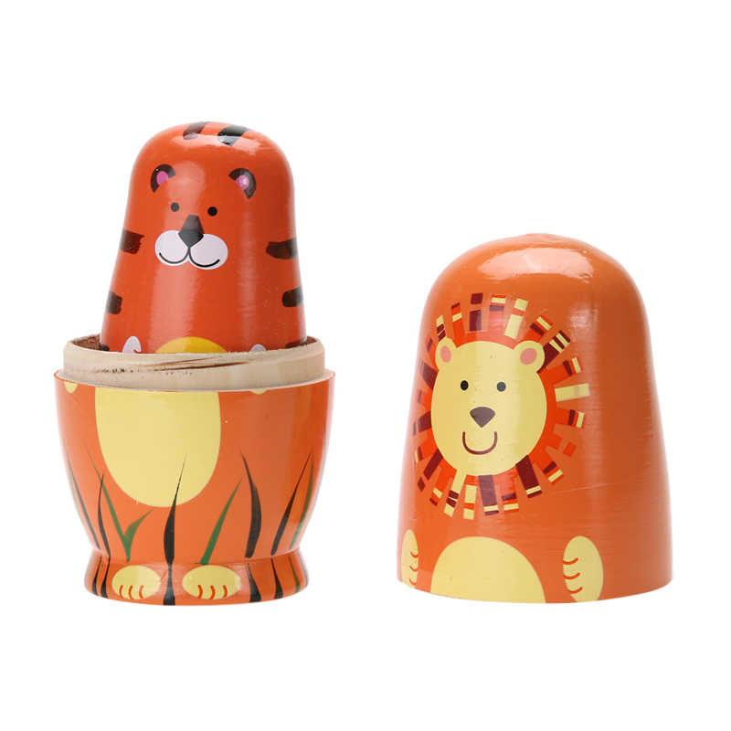 Detail Feedback Questions About 5pcs Wooden Matryoshka Doll Hand