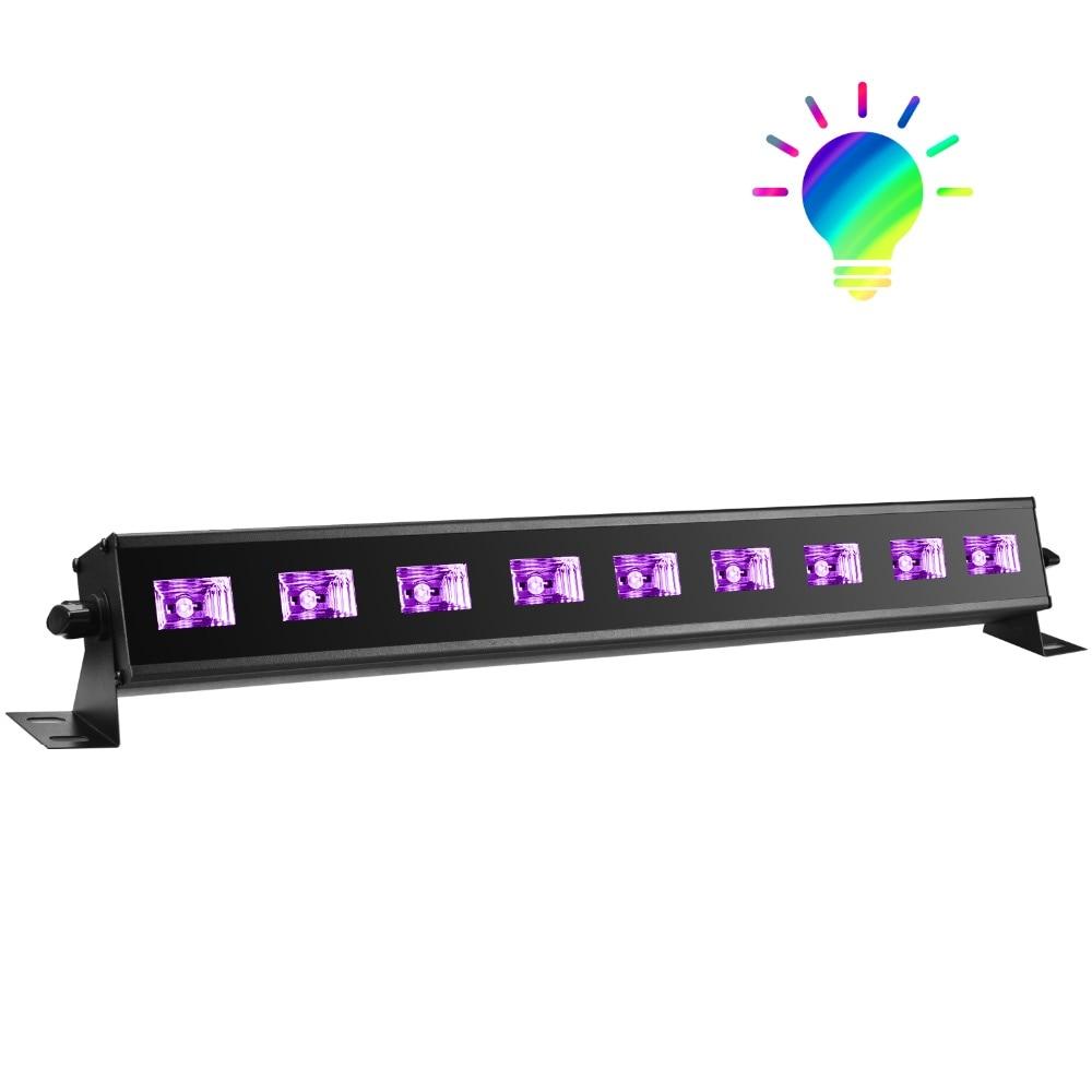 9x3W UV led black light for disco party stage dj Christmas decoration event show bar entertainment 85w high bay lamps 60w 135w 165w 185w 2700k 6500k 85ra 75lm w
