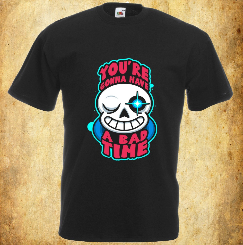 Cotton Shirts Undertale Inspired T Shirt YouRe Gonna Have A Bad Time Video Gaming 100% Cotton Shirts