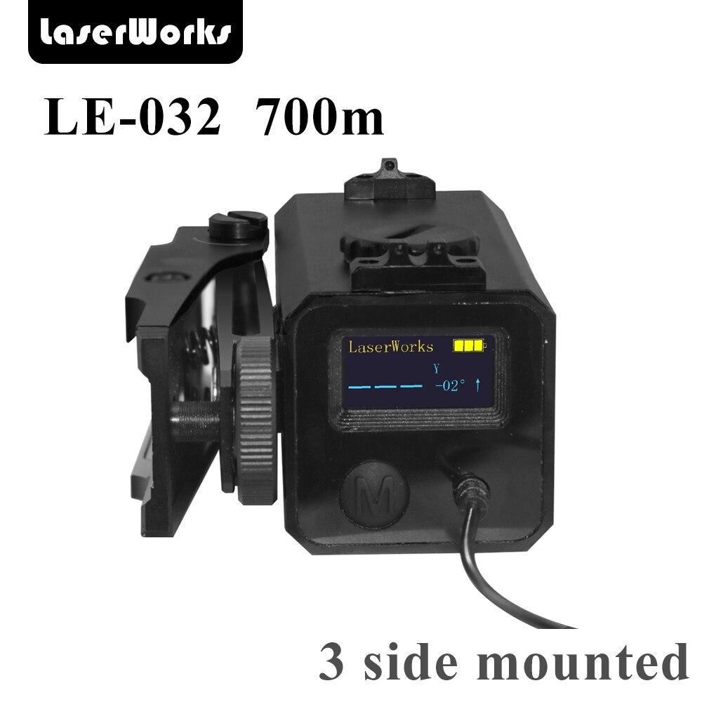 LaserWorks LE032 700 mètre Métal Alliage Laser Télémètre de Tir Compagnon avec support Dérive levation réglable