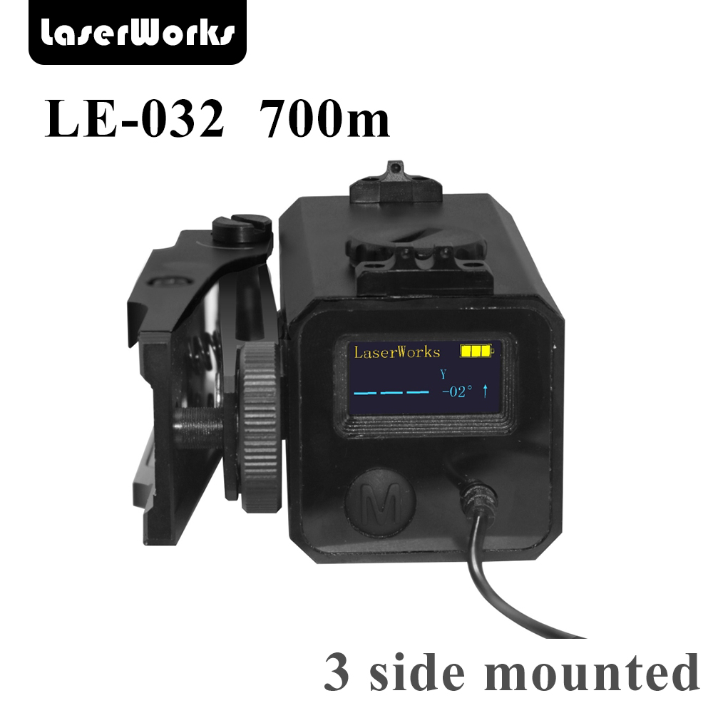 LaserWorks LE032 700 Meter Metal Alloy Laser Rangefinder Riflescope Mate With Bracket Windage Levation Adjustable