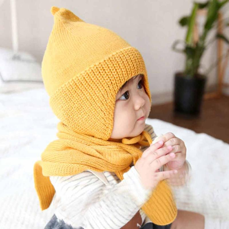 3 Colors Cute Baby Hat Soft Cotton Newborn Baby Beanie Warm Winter Hat For Baby Girls Boys Knitted Kids Hats