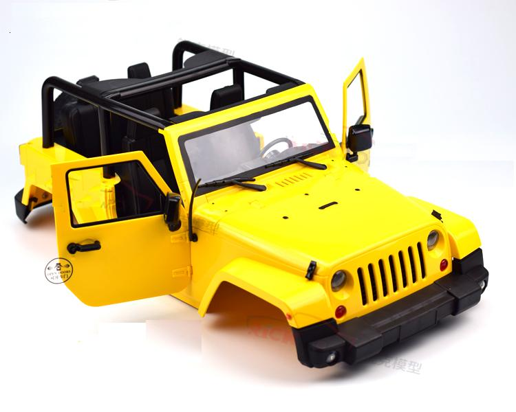 Distancia entre ejes 270mm plástico duro cuerpo kit de coche Shell para Axial SCX10 90020 90021 90018 D90 1/10 RC Rock Crawler tamaño 475*210mm