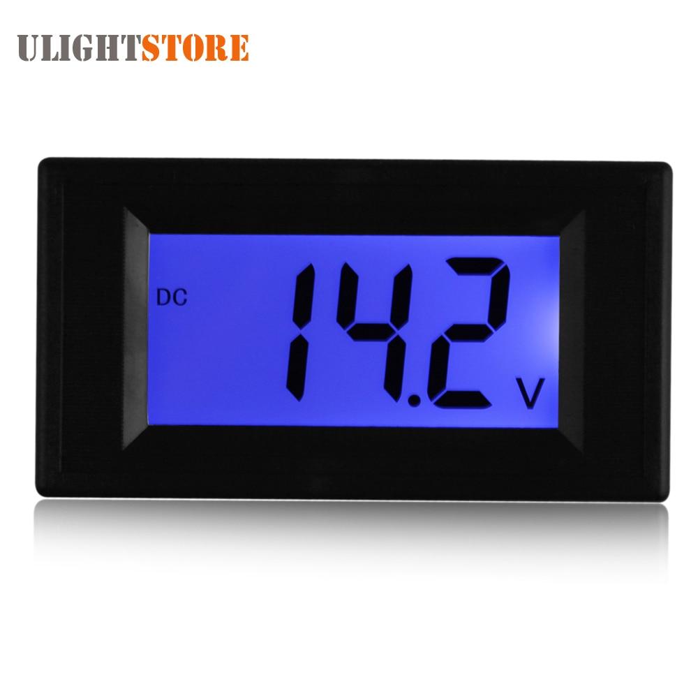 YB5135D DC 40-100V Digital Voltmeter Two Wire System Blue Backlight LCD Display Volt Voltage Meter Gauge Tester