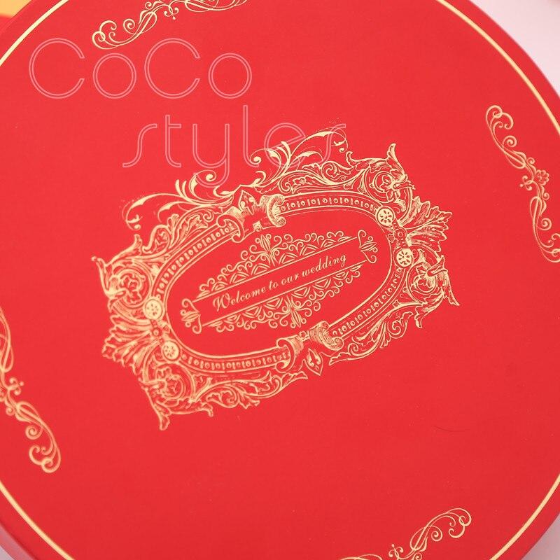 Cocostyles custom populal chinesestyle premium caixa de presente com champanhe chocolate mel para babyshower presente de casamento para convidados - 4