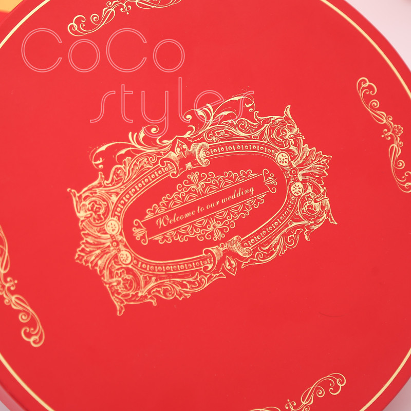 Cocostyles custom populal premium chinesestyle gift box with champagne chocolate honey for babyshower wedding present for guests - 4