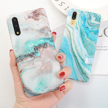 Gradient Marble Phone Case For Huawei Mate 20 lite P20 P30 Pro Cases for Huawei Mate 20 Pro Matte Hard PC Full Back Cover Coque(China)