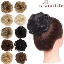 S-noilite 35 г шиньон с эластичными резиновыми лентами синтетический шиньон пончик булочки шиньон волосы шиньон вьющиеся волосы для женщин
