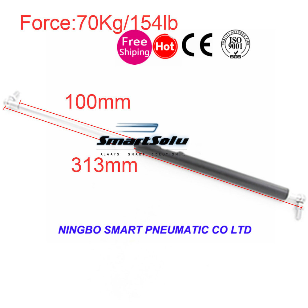 free shipping 70KG/154lb Force100mm Stroke Hood Lift Support Gas Spring for Funiture Door 313mm  Auto Gas Springsfree shipping 70KG/154lb Force100mm Stroke Hood Lift Support Gas Spring for Funiture Door 313mm  Auto Gas Springs