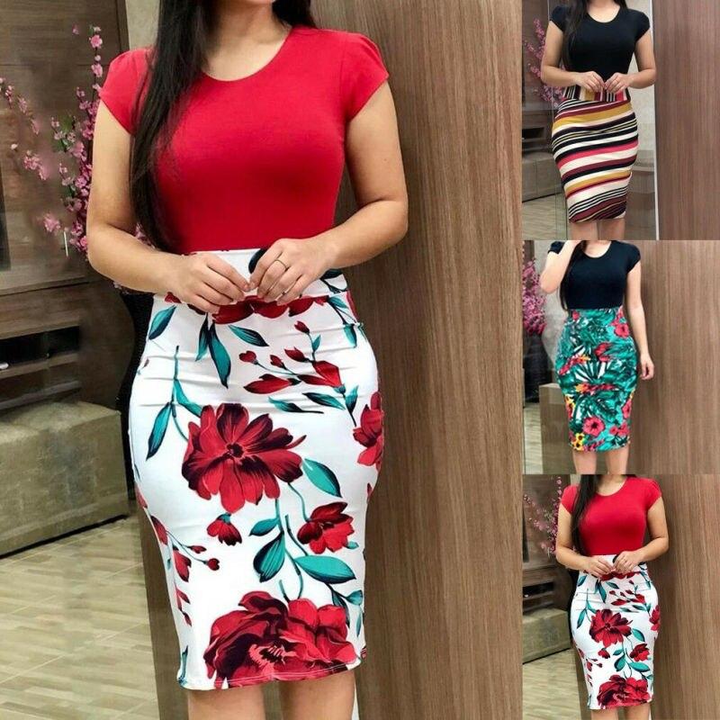 Elegant Women's Business Office Dress Formal Bodycon Sheath Pencil Dresses