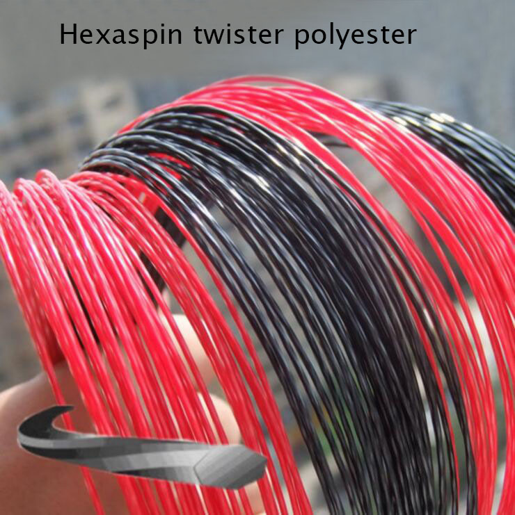 1 Pc Free Shipping Hexaspin Twister Polyester Tennis Strings 1.23mm 16G Tennis Racket String