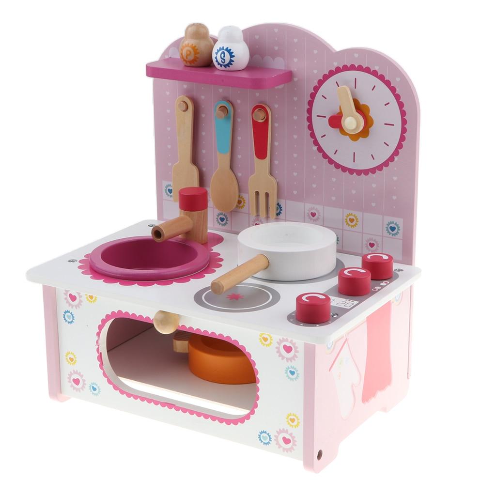 Wodoen cuisine Playset-casseroles à four marmite ustensiles de cuisine Chef jeu de rôle jouets développementaux filles garçons cadeau