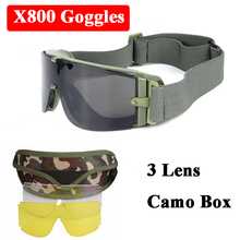 X800 USMC Military Sunglasses Army Goggles Airsoft Sport Tac