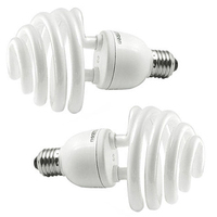 2x Daylight 35W 175W 5500K E27 Umbrella Photo Studio Photography Bulb Lamp