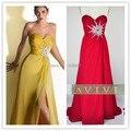 Envío libre amarillo rojo azul rosa púrpura vestido de noche 2016 vestidos de noche largos vestidos de noche vestidos de festa longo