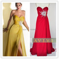 Free shipping yellow red royal blue pink purple evening dress 2016 long evening dresses evening gowns vestidos de festa longo