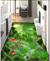 3d wallpaper custom 3d flooring painting wallpaper murals Forest dream lane 3 d floor to stick living room photo wallpaper