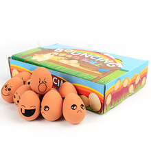 New Trendy Dog Cat Toy Pet Cute Chew Toys Bouncing Mr Egg Ball Funny Emoticon Game Interactive Pet Toys
