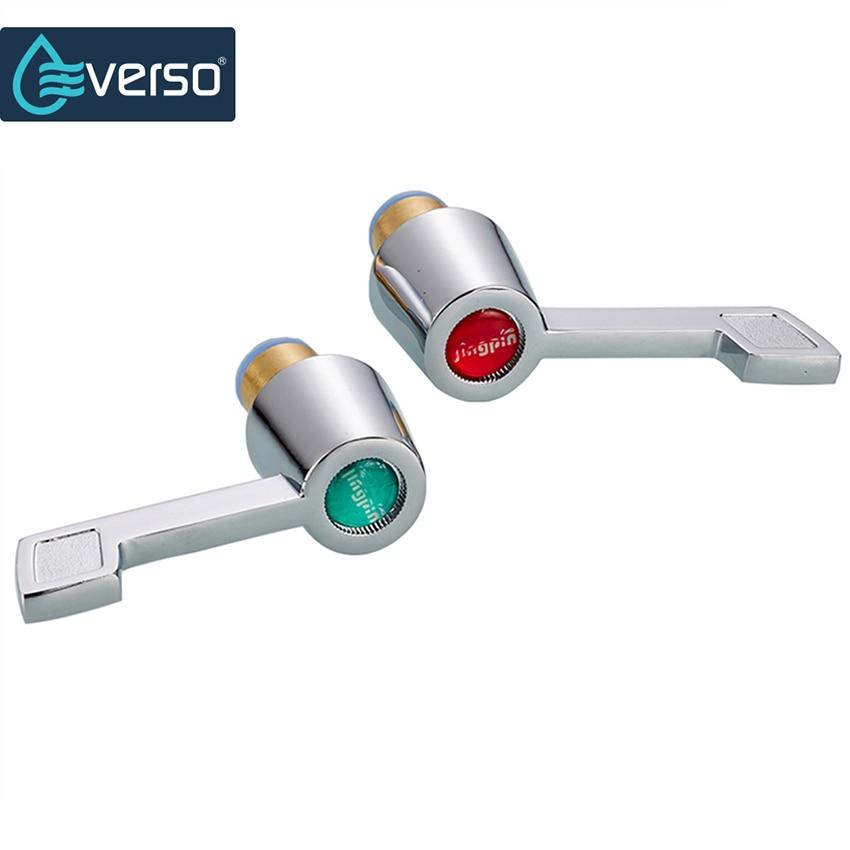 2 Piecees Unique Brass Valve Core Kitchen Faucet Handle Zinc Alloy Dual Tap  Handles Bathroom Accessories Part 94